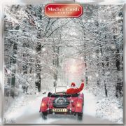 Pack of 8 Multi Charity Christmas Cards - Santa in Car